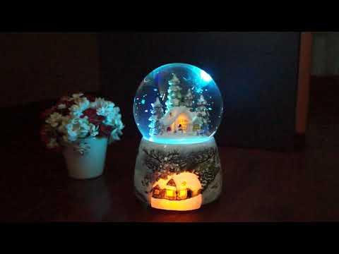 Christmas Snowball Spray Snow Music Box- 19 songs