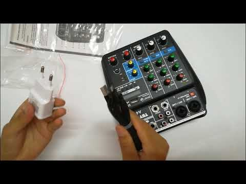 Recording Sound Mixing Console Mixer With USB Digital Mixer Bluetooth