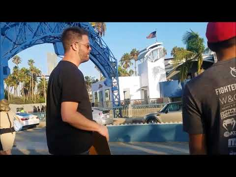 Flat Earth Meetup on the streets!!! Santa Monica Beach Pier / Erin Krieshok