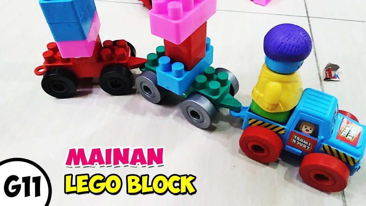 Asik Banget !! Mainan Susunan Kereta Api Anak Lego Block ...