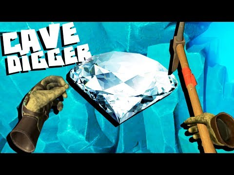 Digging Diamonds And Gold In Virtual Reality! - Cave Digger VR
