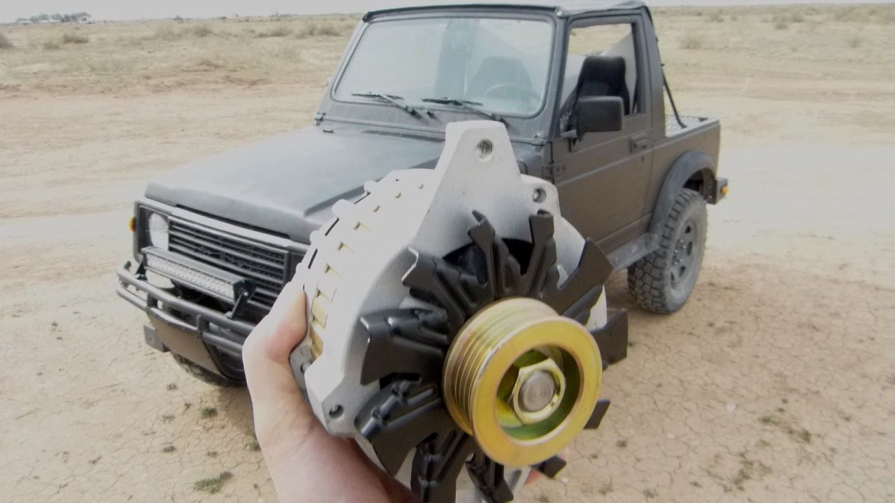 Suzuki Samurai CS130 105 Amp Alternator Upgrade - YouTube