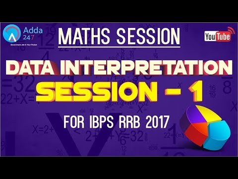 IBPS RRB | Data Interpretation (Session - 1) | Maths |  Online Coaching for SBI IBPS Bank PO