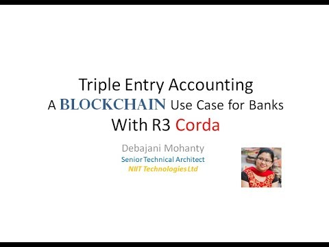 Triple Entry Accounting: A BlockChain use case using R3 Corda