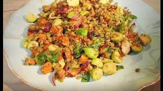 Юлия Высоцкая — Овощной салат с зеленой чечевицей