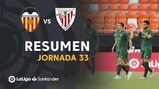Resumen de Valencia CF vs Athletic Club (0-2)