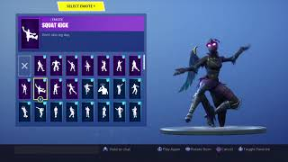 FORTNITE RAVAGE SKIN [FEMELLE CORBEAU] VITRINE (FR) FORTNITE EMOTES - DANCES
