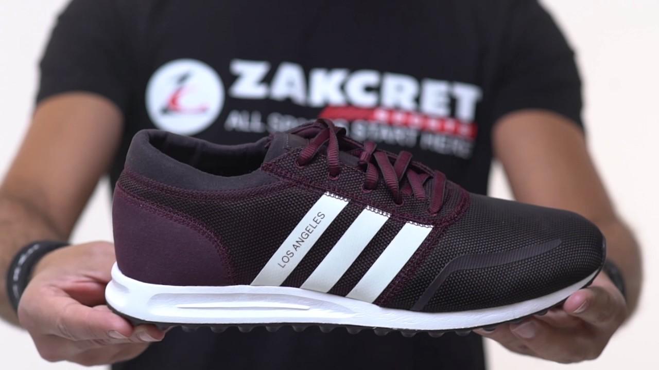 Zakcret sport: unboxing adidas originali di los angeles s75995 Μπορντό