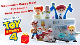 Disney Toy Story 4 - McDonald's Happy Meal Toys (FULL SET UNBOXING AND BUILD) - BUILD YOUR OWN RV!