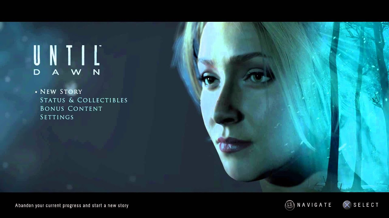 Until Dawn Title Screen (PS4) - YouTube