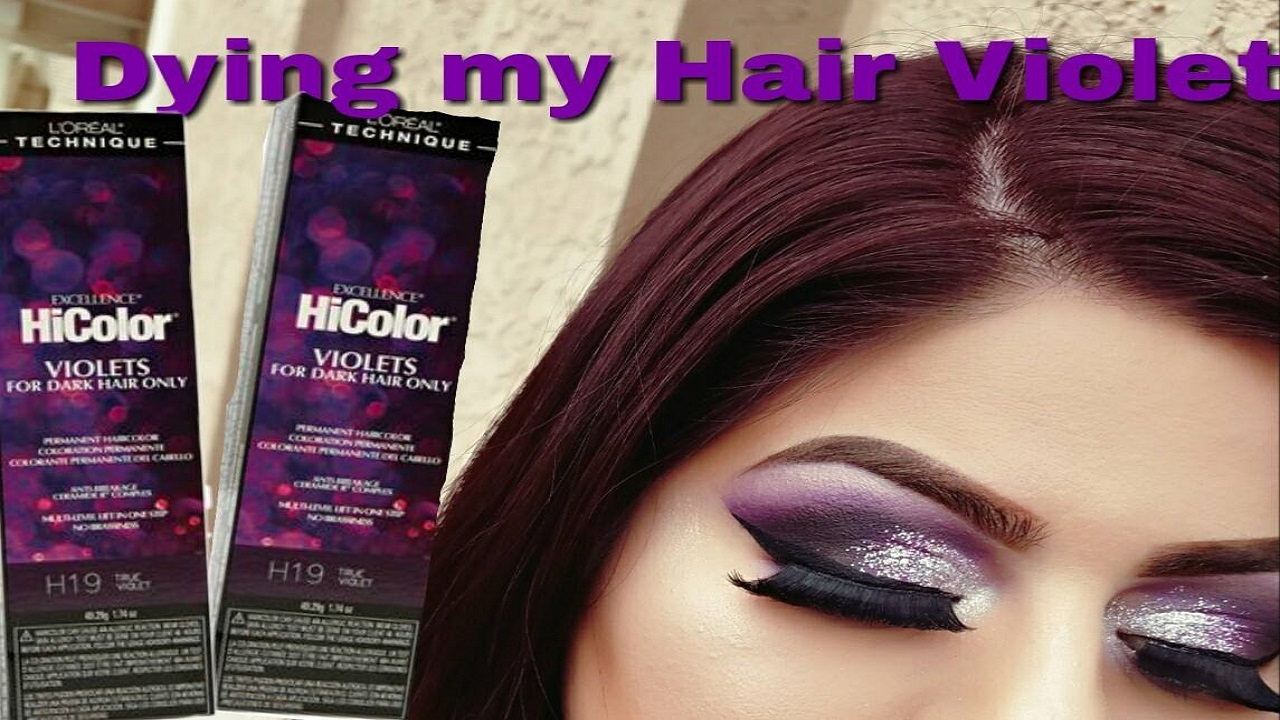 DIY Hair Coloring At Home Using The New Loreal HiColor Violets  YouTube