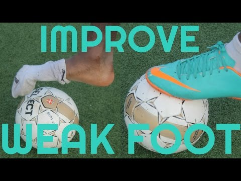 How to Improve Your Weak Foot  & Touch in Soccer or Football  - Weaker foot training & drills