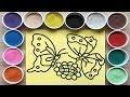 Đồ chơi trẻ em, TÔ MÀU TRANH CÁT BƯƠM BƯỚM XINH, Colored sand painting butterfly (Chim Xinh)