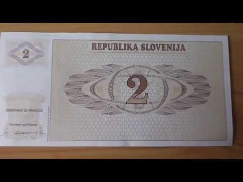 Money of the Republika Slovenija - The 2 Tolar banknote