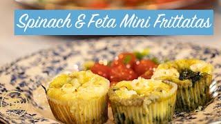 Spinach & Feta Mini Frittatas: Low-Carb/Keto recipes