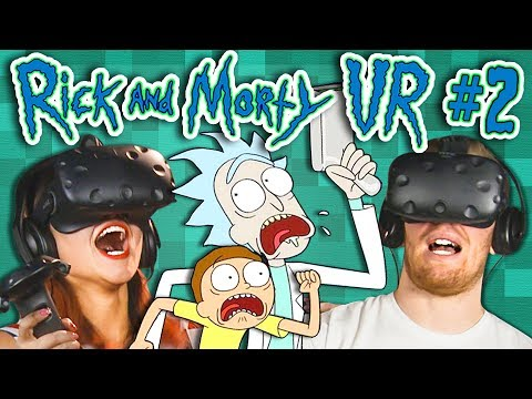 KILL ALL THE ALIENS! | Rick and Morty VR - Part 2 (React: Gaming)