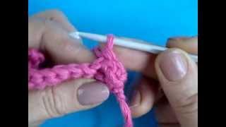 Вогнутый рельефный столбик Вязание крючком урок324 Crochet basic stitch