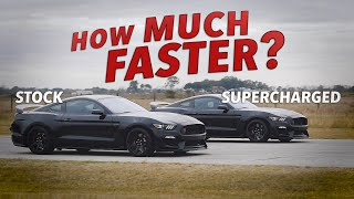 What Difference Does a Supercharger Make? | Stock vs Modified GT350R Roll Racing