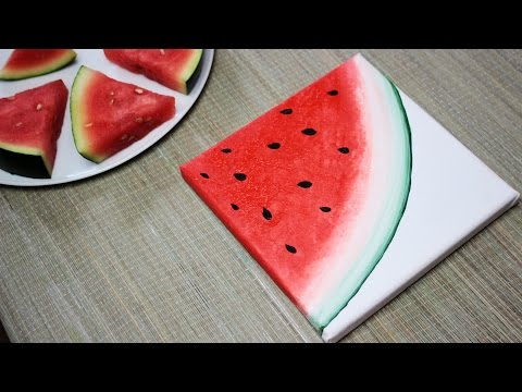 How To Paint A Watermelon