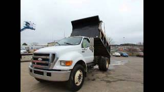 For Sale 2007 Ford F750 S/A 5/6 Yard Dump Truck Cummins 6-Speed A/C bidadoo.com