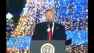 President Donald Trump In Tree Lighting Ceremony