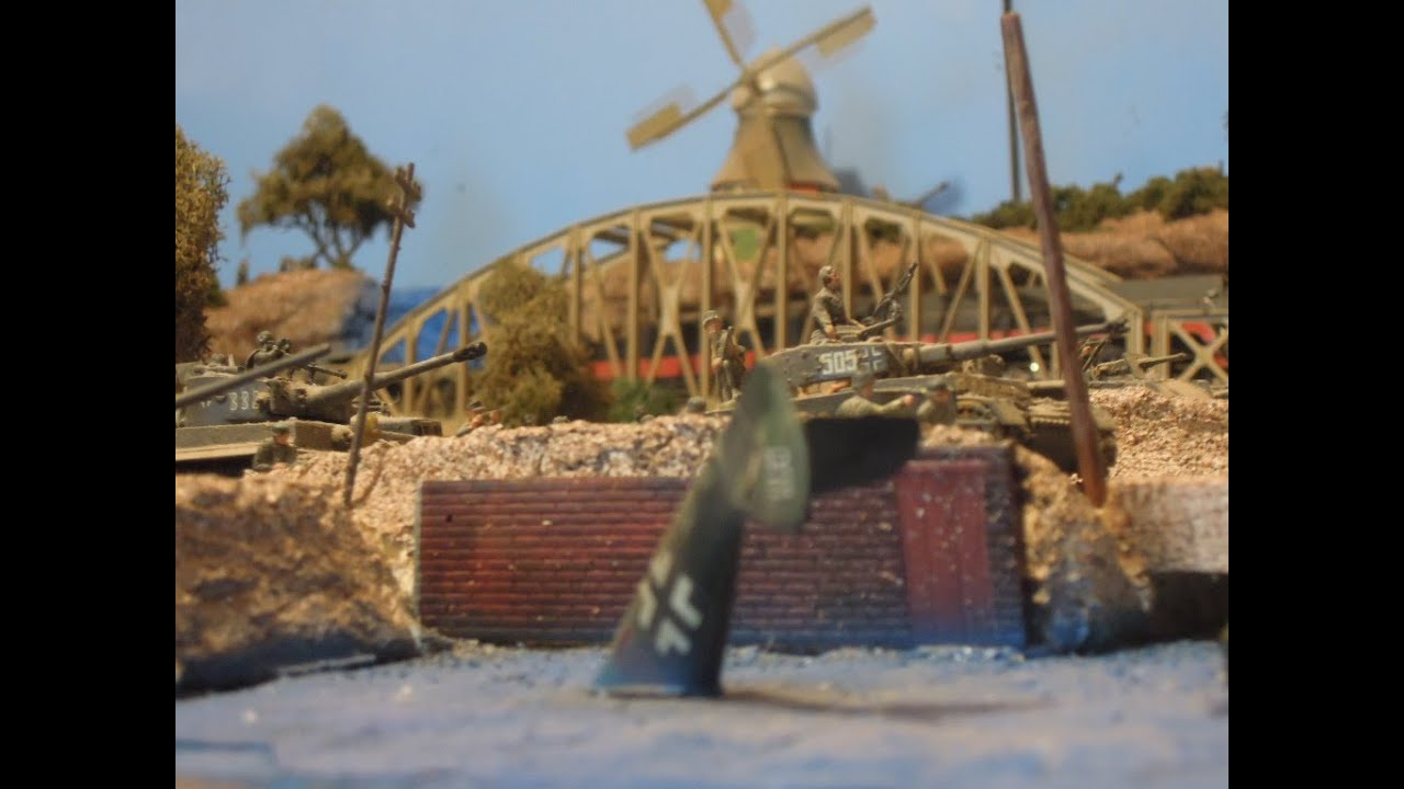 Military Miniatures WW2 Diorama Pattons Army on the Roll  YouTube