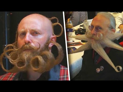 Don Action Jackson - Beautifully Crazy Facial Hair At World Beard and Mustache Championships