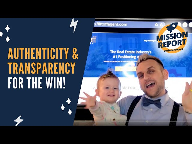 #missionreport - Authenticity and Transparency for the WIN!