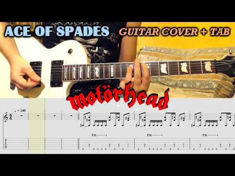 Ace Of Spades (Motorhead) GUITAR COVER / LESSON with TAB