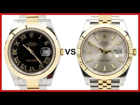 ▶ New 2016 Rolex Datejust 41 vs. old Datejust II  - COMPARISON (two tone yellow gold dress watches)