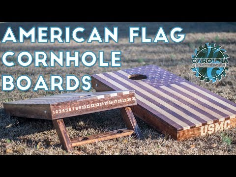 How to Make American Flag Cornhole Boards | Woodworking/DIY