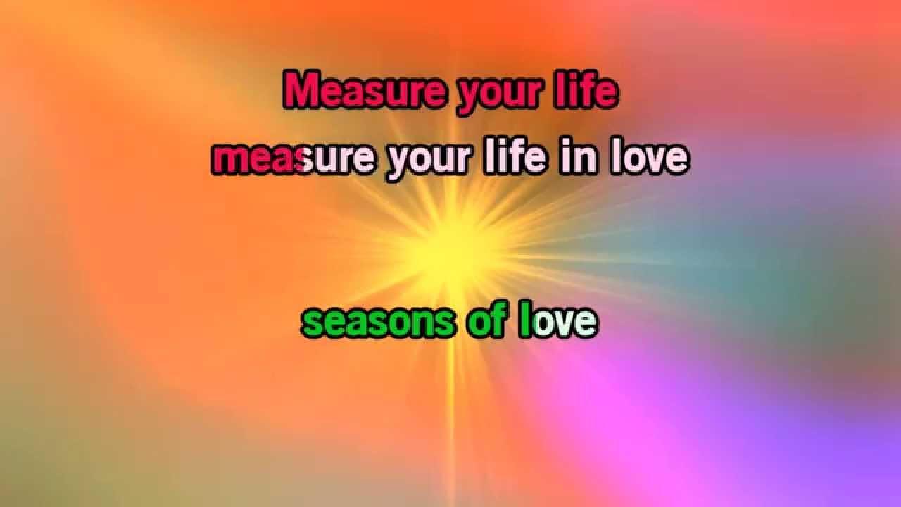 seasons of love lyrics pdf