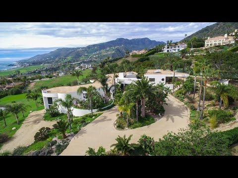 Malibu Modern Estate 4K Drone Video - Spring Greenery in LA