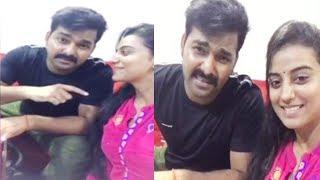 Pawan Akshra Viral Videos   Pawan Singh Akshara Singh Video Goes Viral