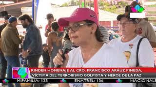 Multinoticias | Rinden homenaje al Cro. Francisco Aráuz Pineda, victima del terrorismo golpista