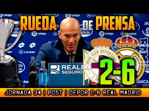 Deportivo 2-6 Real Madrid Rueda de prensa - POST LIGA JORNADA 34 - 동영상