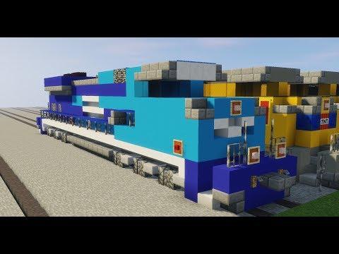 Minecraft EMD SD70ACE Union Pacific Missouri Pacific Heritage Unit UP 1982 Tutorial