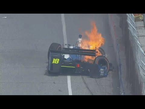 IndyCar Series 2017. Qualifying Grand Prix of Toronto. Esteban Gutiérrez Hard Crash