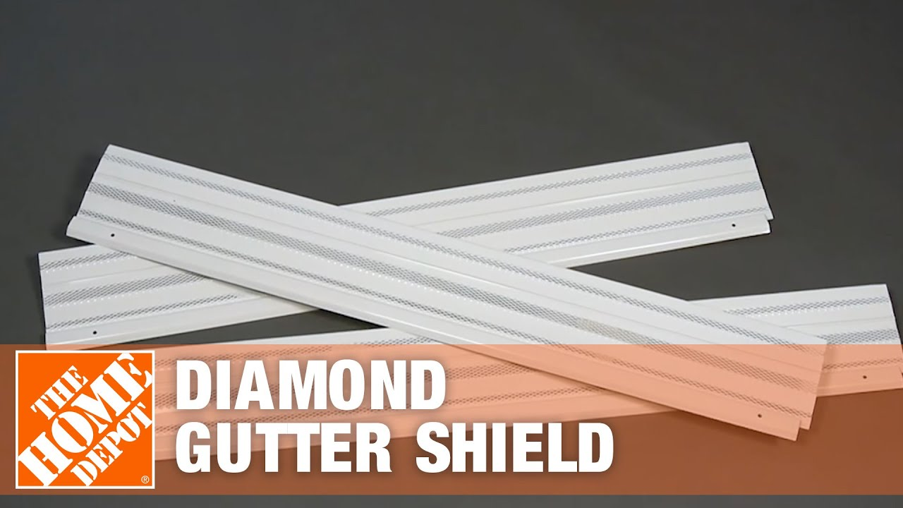 Diamond Gutter Shield The Home Depot Youtube