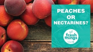 Fresh Things: peaches or nectarines?