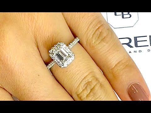 1 carat Emerald Cut Diamond Engagement Ring