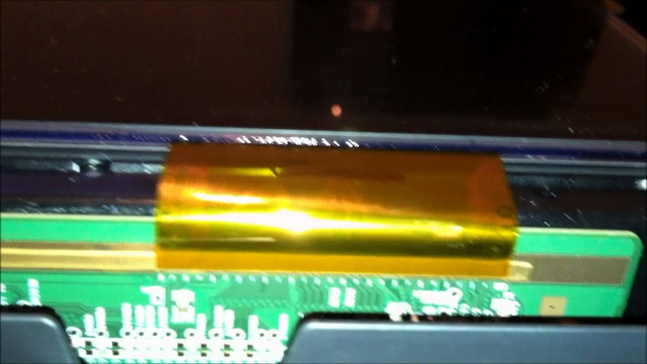 hight resolution of sanyo dp42849 vertical bar problem fix