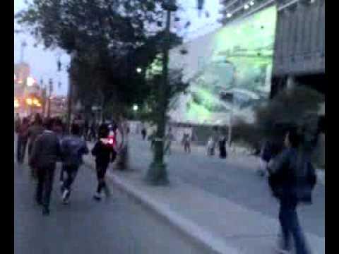 ضرب احمد السقا فى ميدان التحرير بصوت والصورة