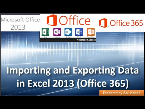 Importing and Exporting Data in .csv Files in Excel 2013 (Office 365) 17 of 18