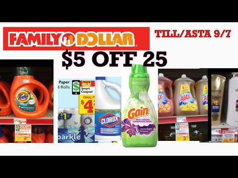 FAMILY DOLLAR $5 Off 25 Low Oop 🤑/ Family Dollar $5 En 25 🤑🤑🤑🔥