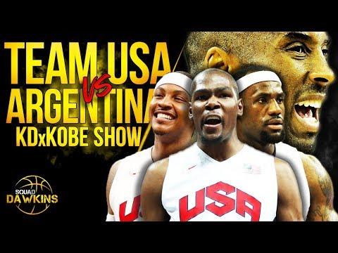 Kobe, Bron, KD Led Team USA vs Ginobili x Argentina Exhibition Game   July 22, 2012   SQUADawkins