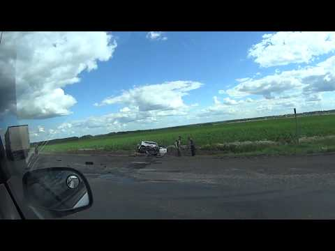 ДТП легковушка врезалась в фуру 13 июля 2017 под Курганом