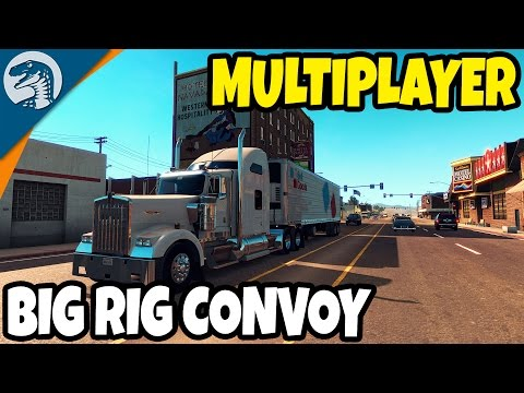 THE BIG OL' CONVOY CONTINUES | American Truck Simulator Multiplayer Gameplay