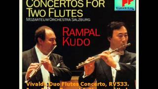 Vivaldi,  Concerto for 2 Flutes and Orchestra in C Major, RV533. Flautistas Rampal & Kudo