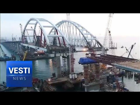 Construction of Crimean Land Bridge Proceeds at Breakneck Pace, Scheduled For Completion in 1 Year